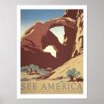 America Vintage Travel Poster