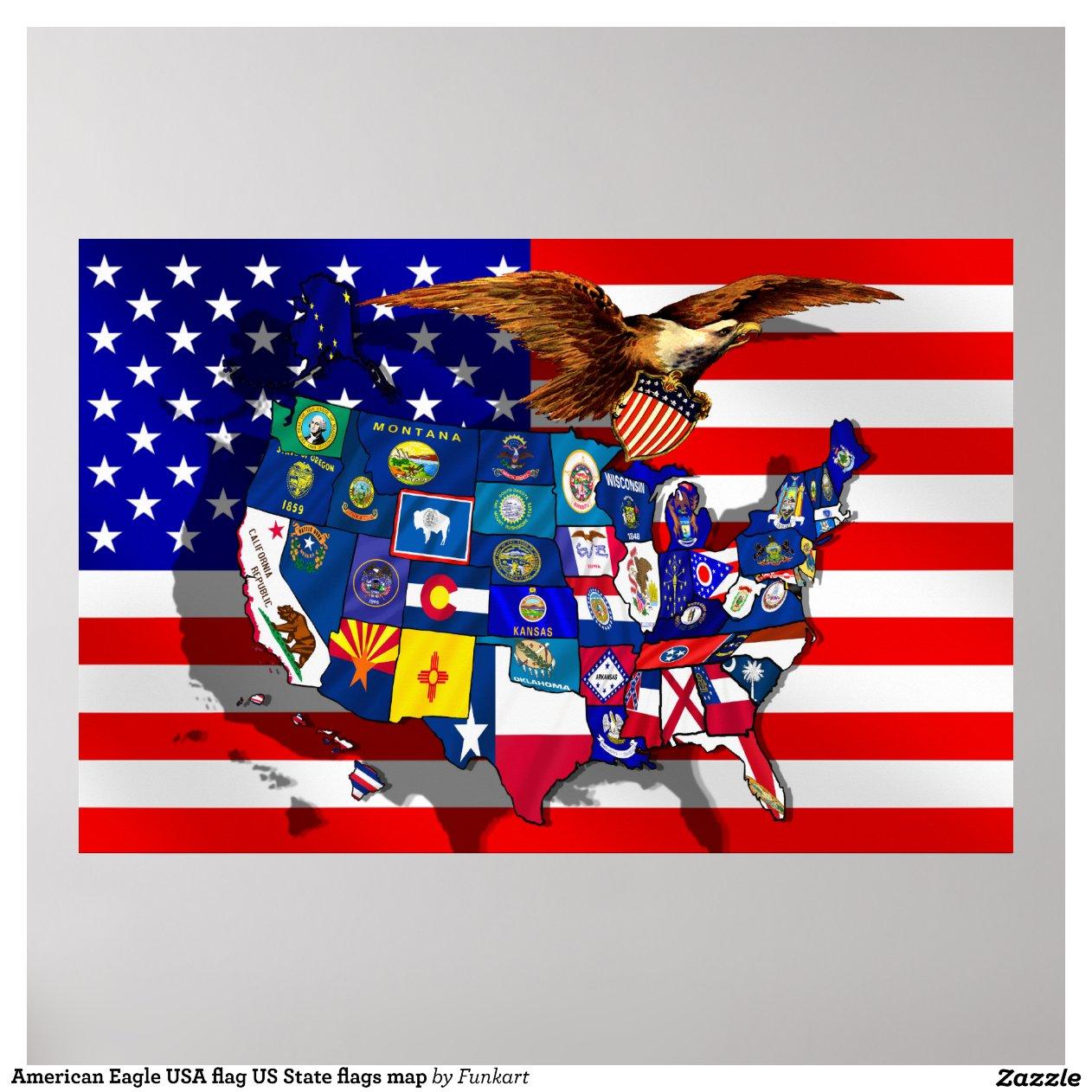American Eagle USA Flag