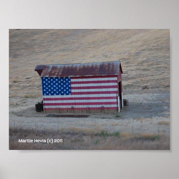 American Flag Barn by Martie Hevia - Photo Print print