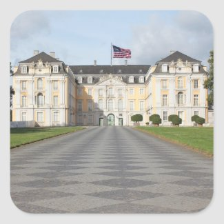 American Flag on German Castle Sticker