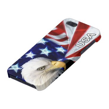 American Flag with Bald Eagle iPhone SE/5/5s Cover