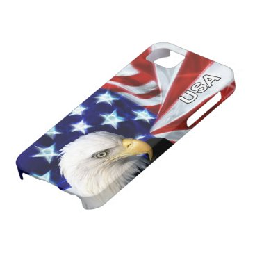 American Flag with Bald Eagle Patriotic iPhone SE/5/5s Case