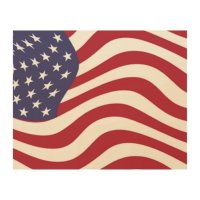 AMERICAN FLAG WOOD WALL ART | Zazzle