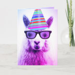 ❤️  An Adorable Alpaca in Glasses, Birthday Card