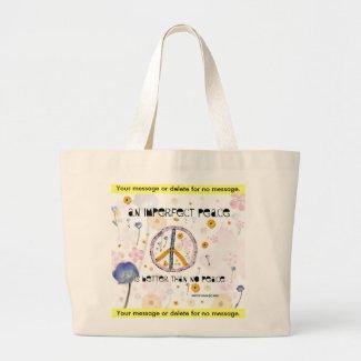 'An Imperfect Peace' - Canvas Bag - Customize bag