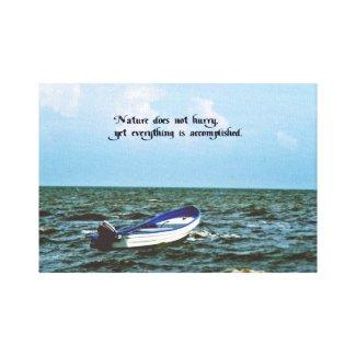 An inspirational message canvas print