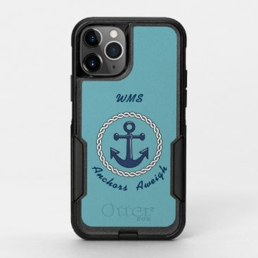 Anchors Aweigh Monogrammed OtterBox Commuter iPhone 11 Pro Case