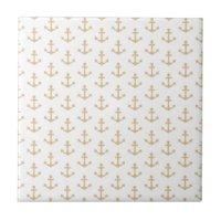 Anchors Pattern Ceramic Tiles   Zazzle