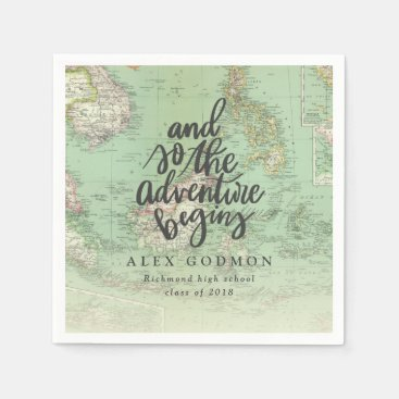 AND SO THE ADVENTURE BEGINS NAPKIN