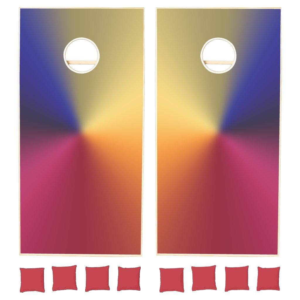 Angle Radiant Gradient Cornhole Set
