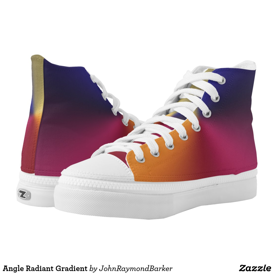 Angle Radiant Gradient High-Top Sneakers