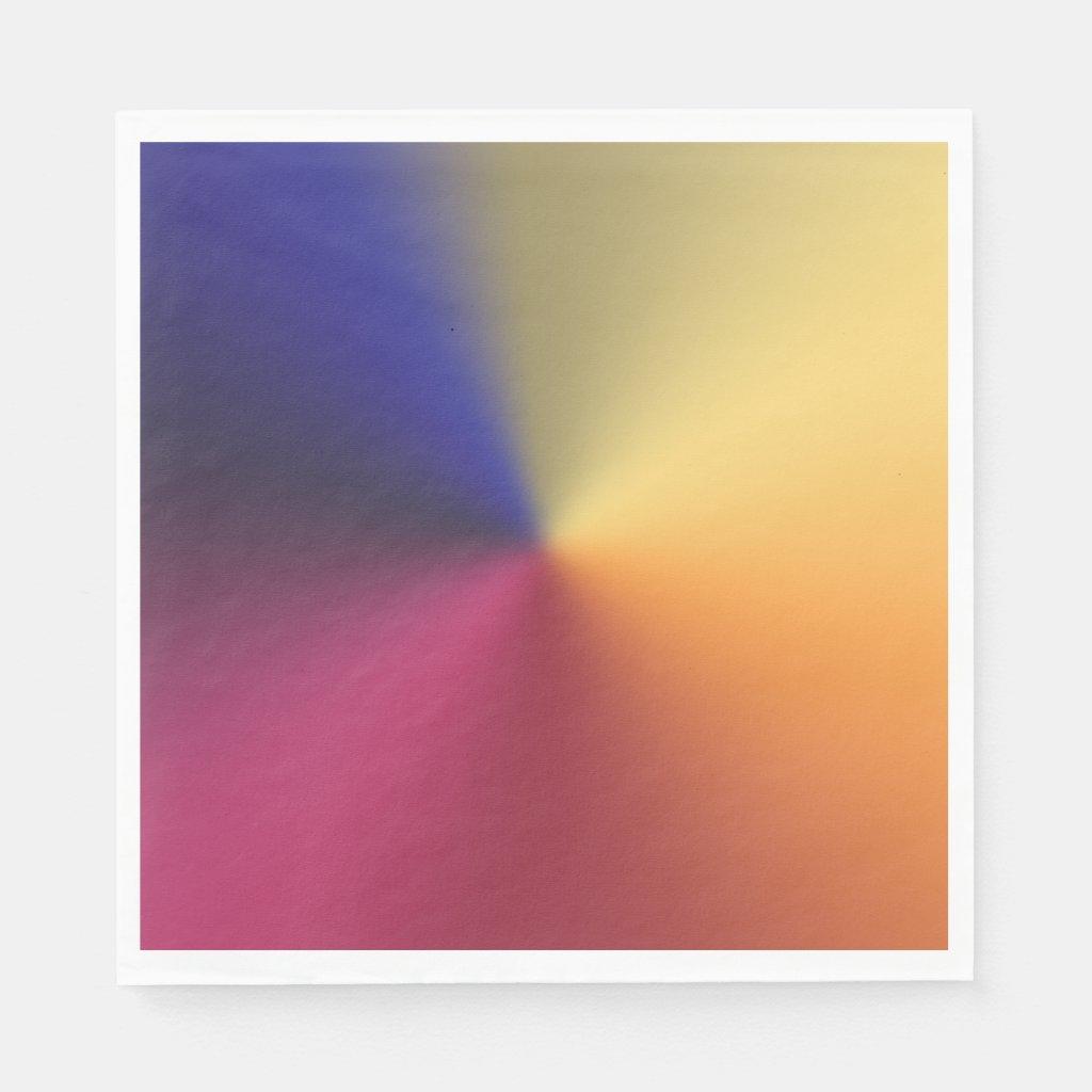 Angle Radiant Gradient Napkins