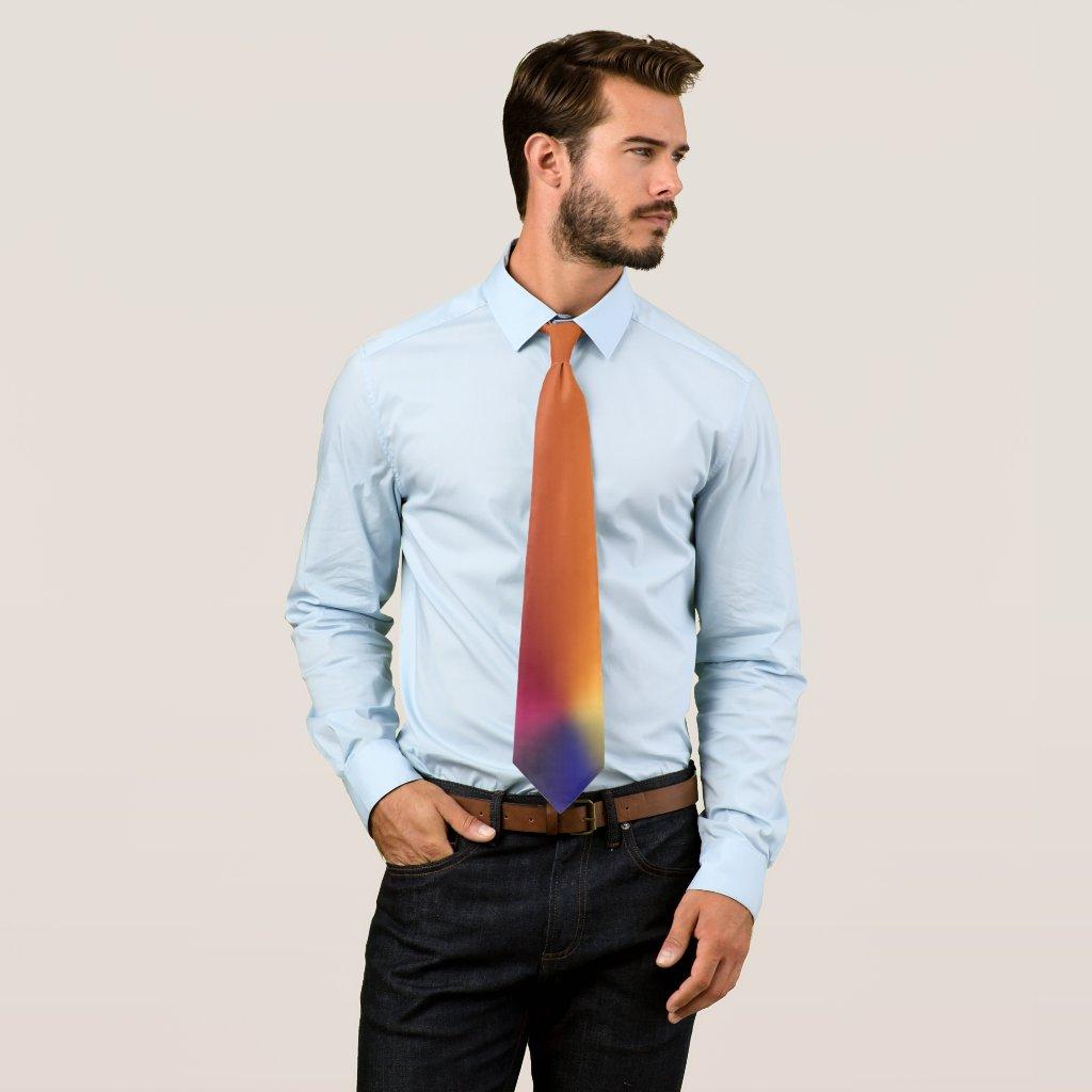 Angle Radiant Gradient Neck Tie