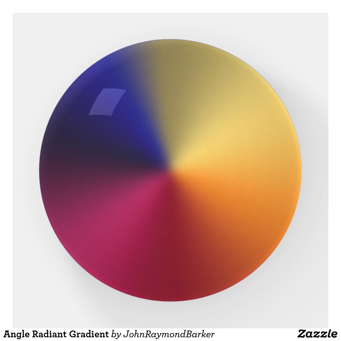 Angle Radiant Gradient Paperweight