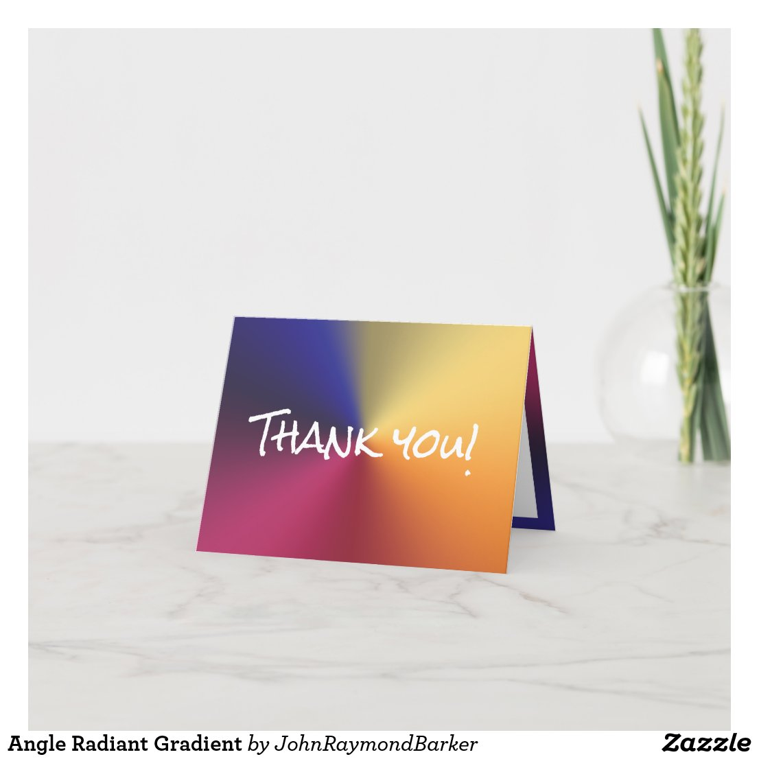 Angle Radiant Gradient Thank You Card