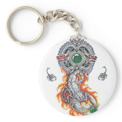 animal celtic scorpion tattoo key chain by tattoostyle. celtic scorpions