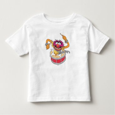 Animal Crashing Through Drums Toddler T-shirt