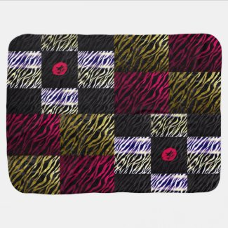Animal Crazy Zebra Baby Girl Blanket