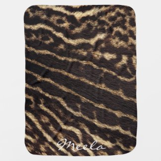 Animal Print (fur texture) Baby Blanket