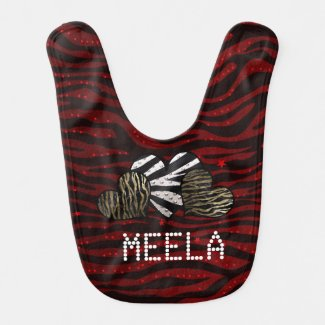 Animal Print Pattern Baby Bib