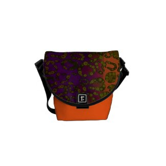 Animal Print Pattern Rickshaw Mini Messenger Bags