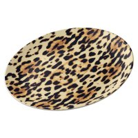 Animal skin print texture dinner plate   Zazzle