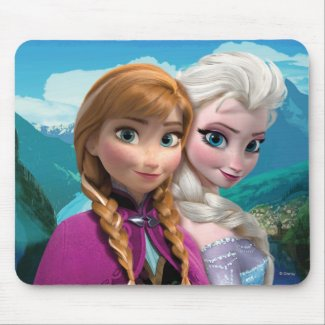 Anna and Elsa Mousepads