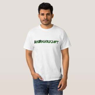 AnSnarkist Logo 17 Green T-shirt