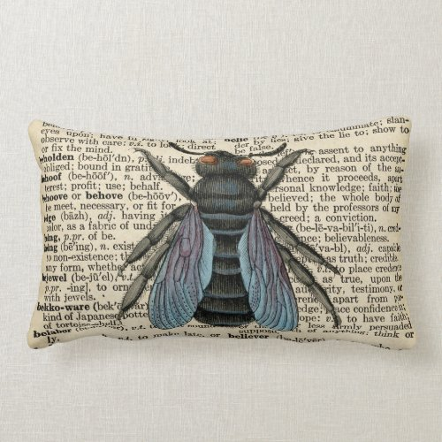 Antique Dictionary Bug Pillow