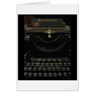 Antique Typewriter Card