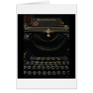 Antique Typewriter Card