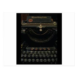 Antique Typewriter Post Card