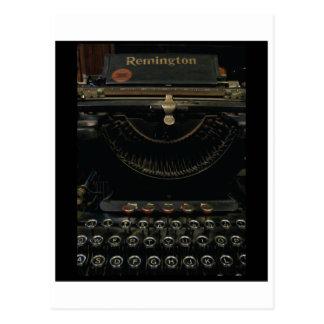 Antique Typewriter Postcard