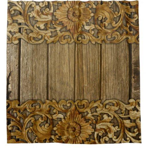 antique wood floral carvingsvintagevictorian shower
