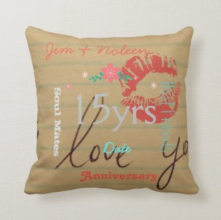 Any years married Wedding Anniversary Wordcloud Throw Pillow