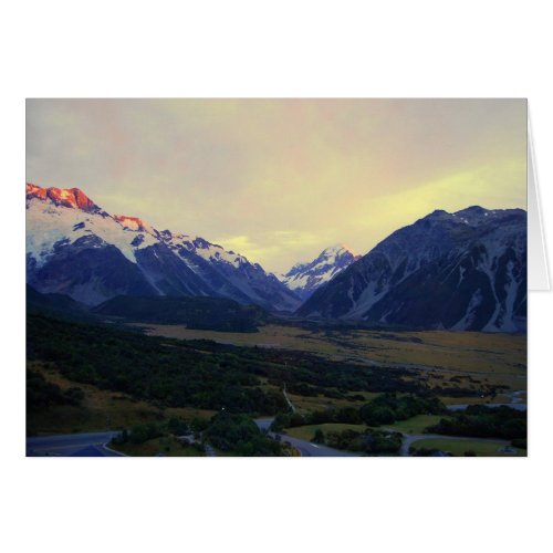 Aoraki/Mount Cook at Sunrise card