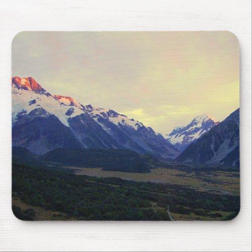 Aoraki/Mount Cook, New Zealand, at Sunrise Mousepads