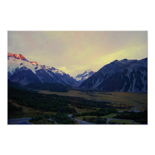 Aoraki/Mount Cook, New Zealand, at Sunrise print