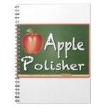"""Apple Polisher"" Spiral Notebooks"
