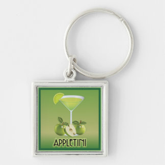 Appletini Green Keychains
