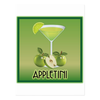 Appletini Green Postcard