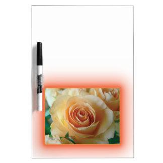 Apricot Rose Blur Dry-Erase Board