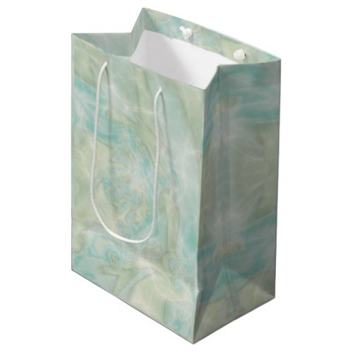 Aqua and Teal Medium Gift Bag