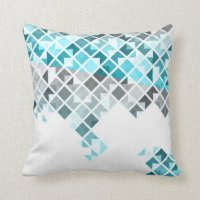 Blue Grey Pillows, Blue Grey Throw Pillows