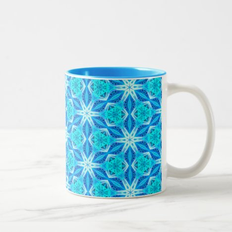 Aqua Hawaiian Stars under a Night Sky Dance Two-Tone Coffee Mug