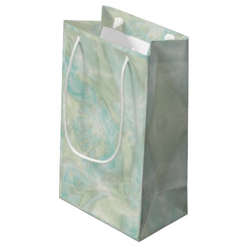 Aqua Marble Swirl Small Gift Bag