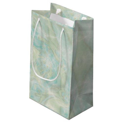 Aqua Marble Swirl Small Gift Bag