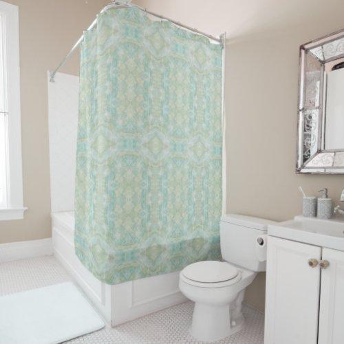 Aqua Turquoise Shower Curtain