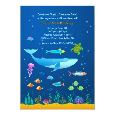 Aquarium Adventure Invitation