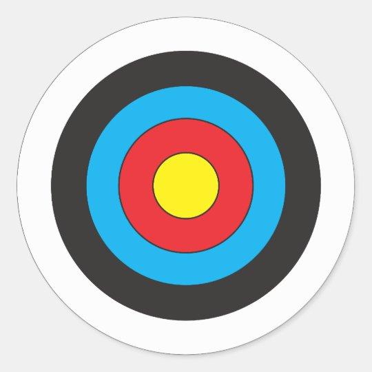 Archery Target Classic Round Sticker  Zazzlecom